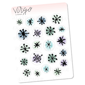 Snowflakes Mini Sheet of Planner Stickers