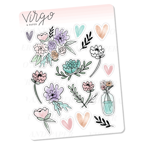 Moonlight Floral Decorative Mini Sheet