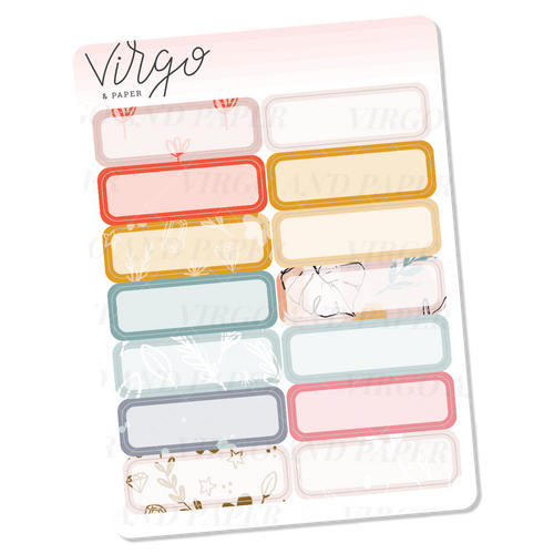 Sunlight Box Label Stickers - Mini Sheet of Planner Stickers