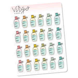 Water Bottle Tracker Mini Sticker Sheet