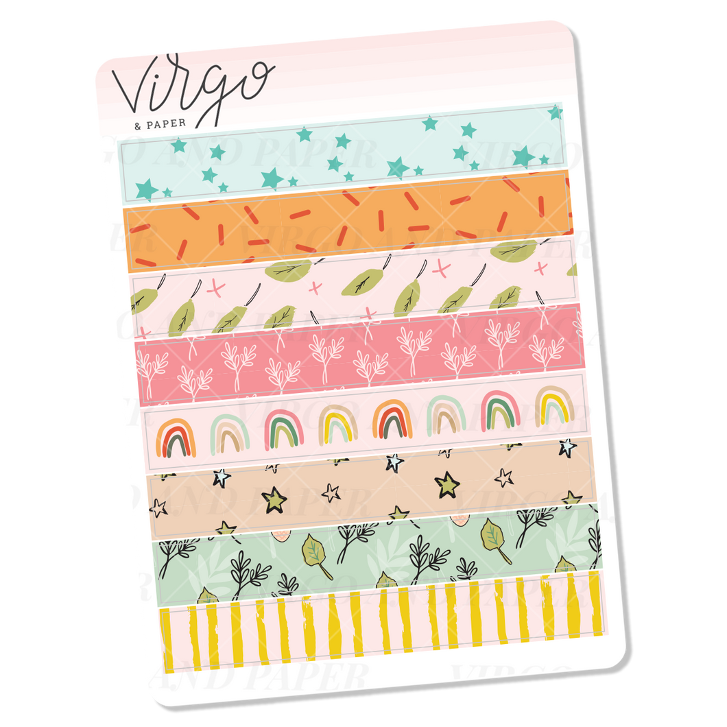 Quiet Life Washi Stickers - Mini Sheet of Planner Stickers