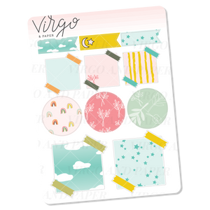 Quiet Life Variety Label Stickers - Mini Sheet of Planner Stickers