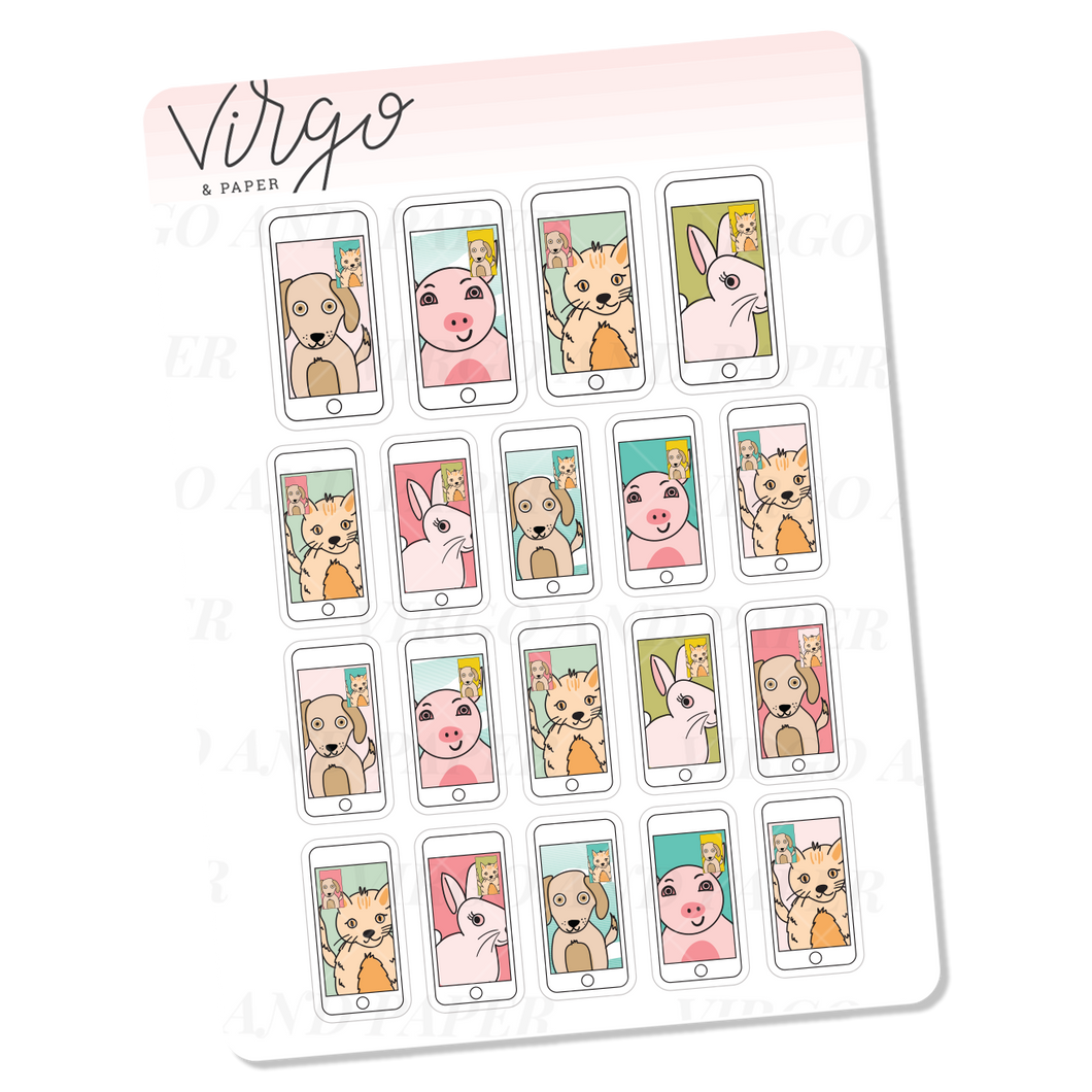 Video Call Mini Sticker Sheet
