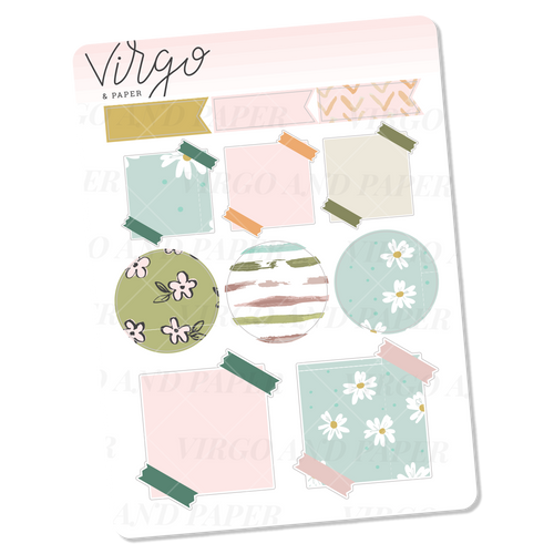 To Be Read Variety Label Stickers - Mini Sheet of Planner Stickers