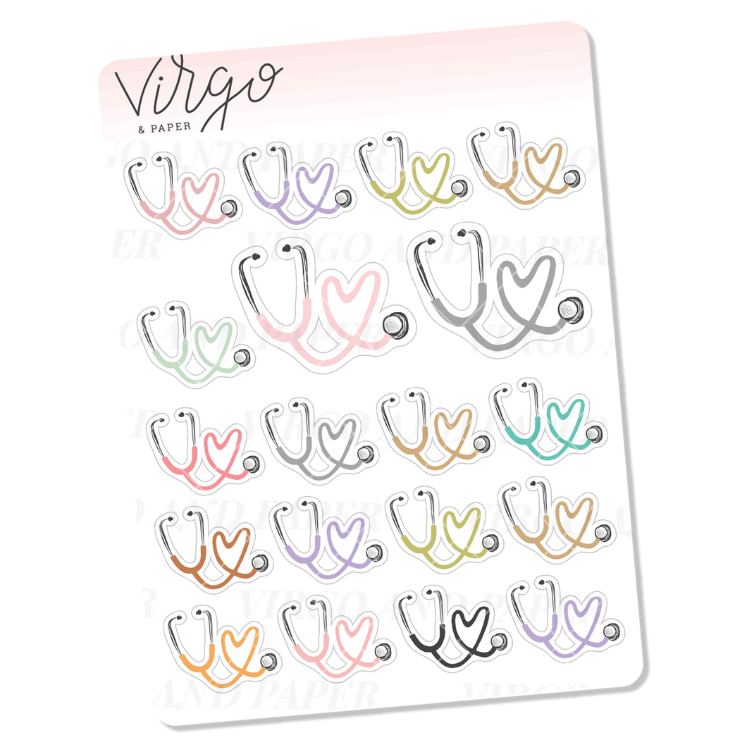 Stethoscope Mini Sticker Sheet