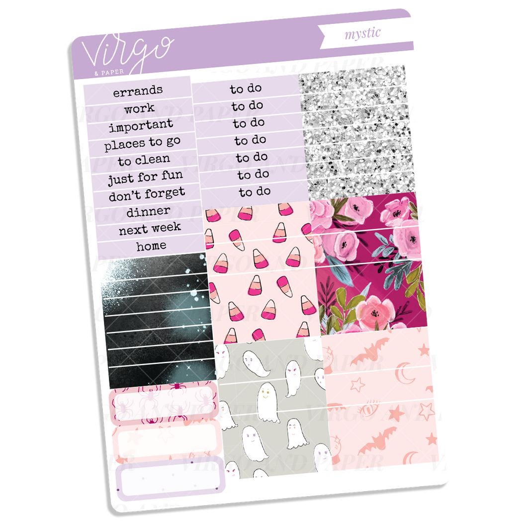 Mystic Headers + Washi Sticker Sheet