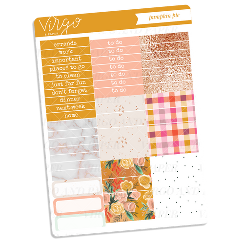 Pumpkin Pie Headers + Washi Sticker Sheet