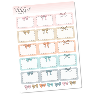Pastel Bow Event Box Planner Stickers