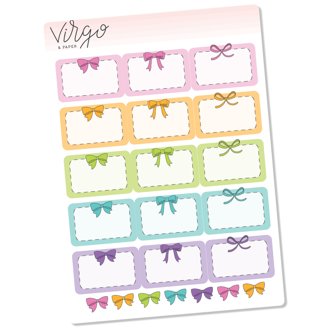 Bright Bow Event Box Planner Stickers