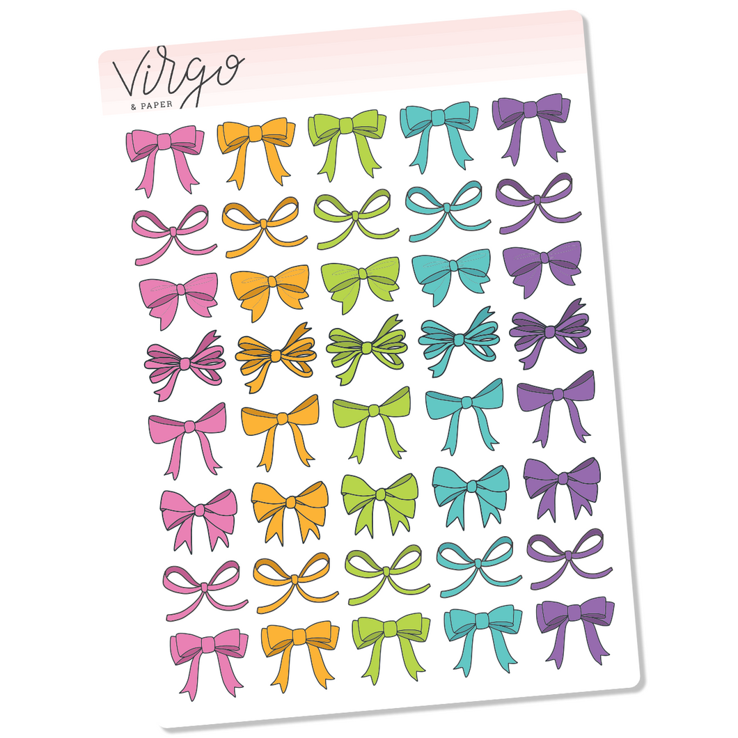 Bright Bows Hand Drawn Planner Stickers