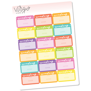 Reading Label Planner Stickers - Bright Multicolor