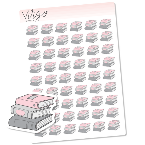 Stack of Books  Hand Drawn Planner Stickers