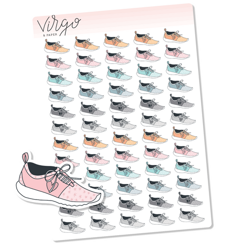 Running Shoe Hand Drawn Planner Stickers