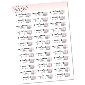 Reading Time - Stack of Books Hand Drawn Planner Stickers