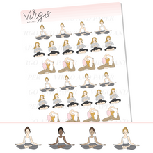 Yoga Girl Planner Stickers - Neutral Outfit Version! Choose Your Skin/Hair Color
