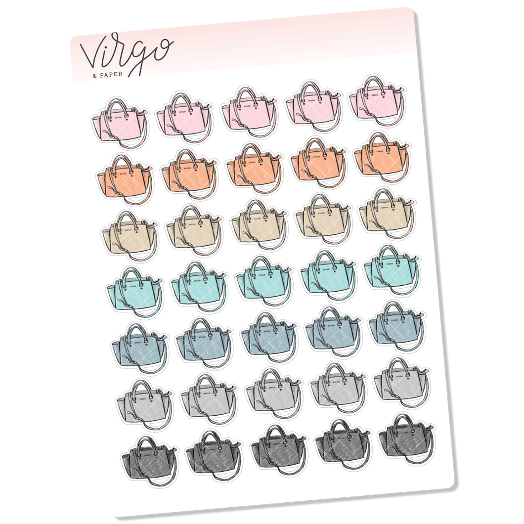 Satchel Handbag Stickers