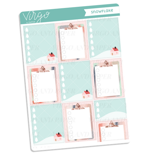 Snowflake Checklist Full Boxes Sticker Sheet
