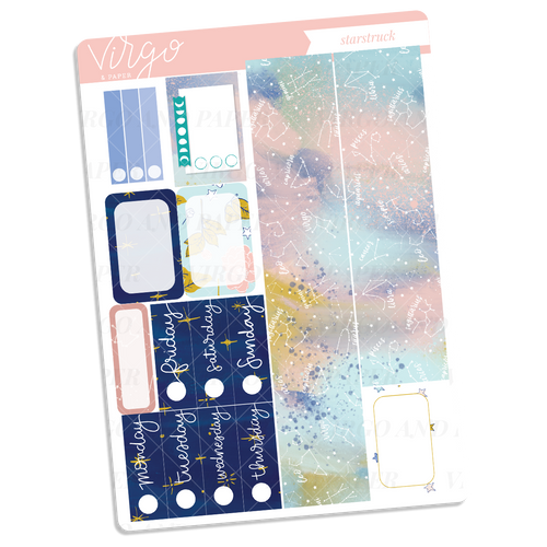 Starstruck Washi + Date Covers Sticker Sheet
