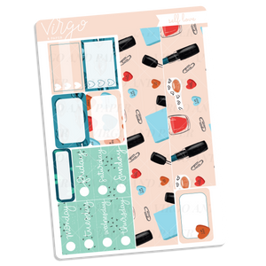 Self Love Washi + Date Covers Sticker Sheet