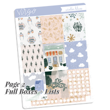 Winter Blues Weekly Planner Sticker Kit - Hand Drawn Snow Day Stickers Exclusive to Virgo and Paper