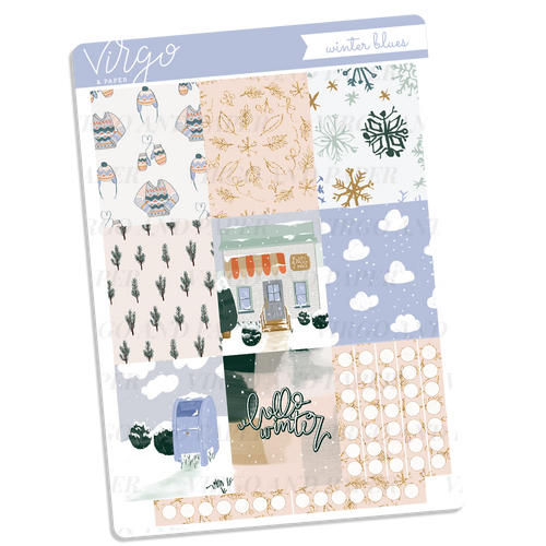 Winter Blues Full Boxes Sticker Sheet