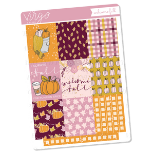 Welcome Fall Full Boxes Sticker Sheet