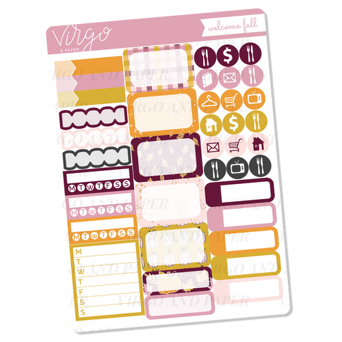 Welcome Fall Functional Sticker Sheet