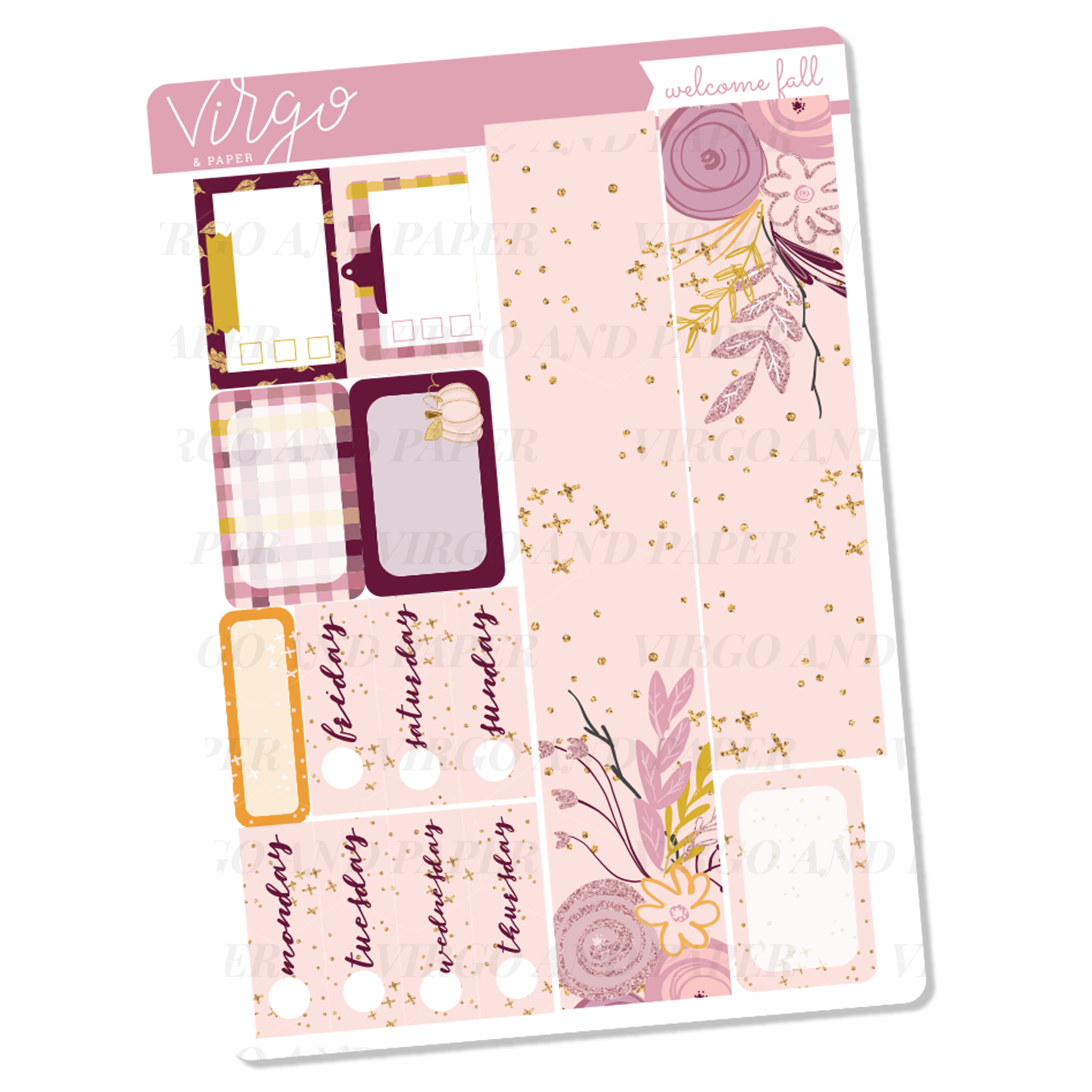 Welcome Fall Washi + Date Covers Sticker Sheet