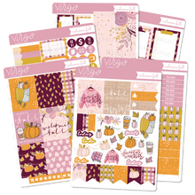 Welcome Fall Weekly Planner Sticker Kit - Hand Drawn Autumn Stickers Exclusive to Virgo and Paper