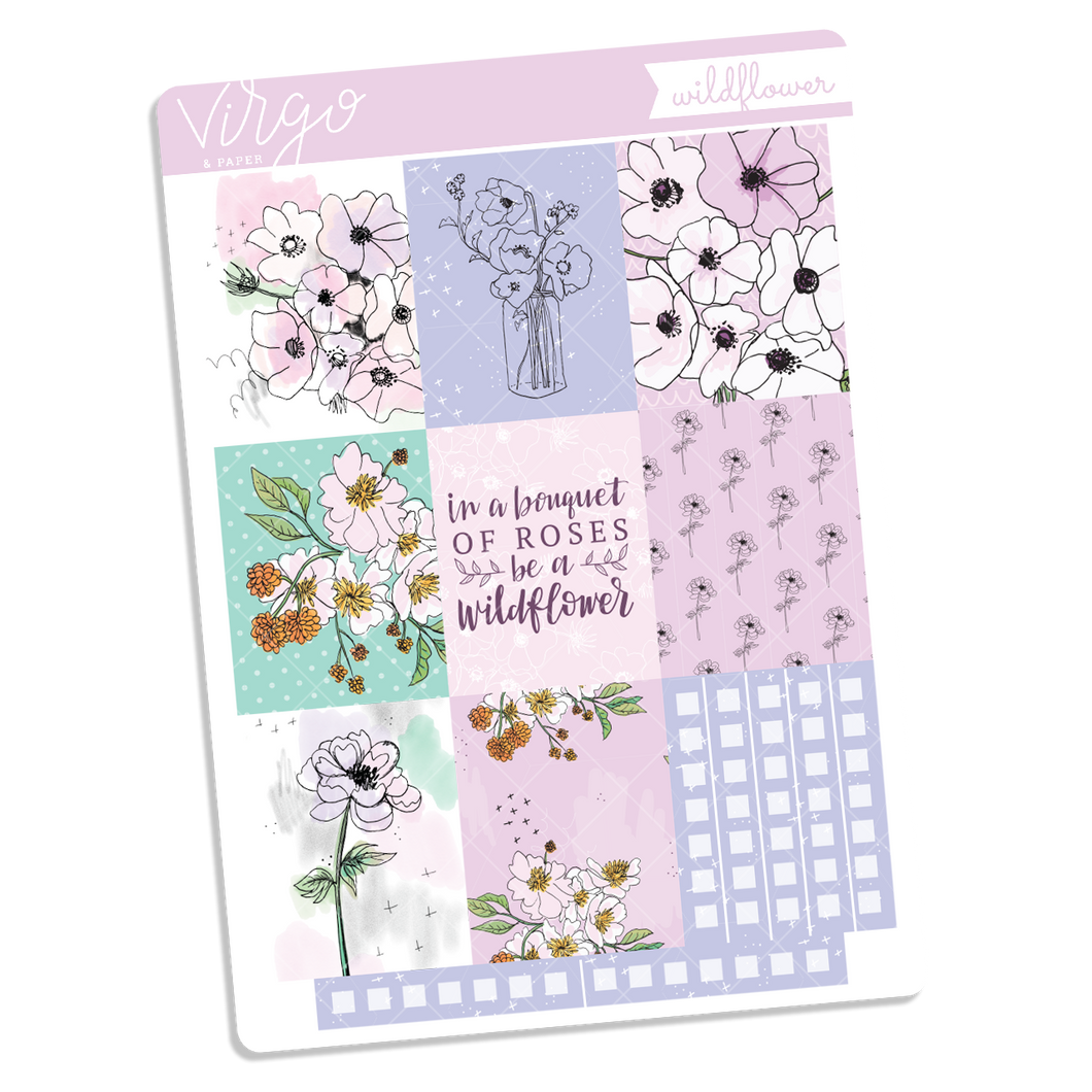 Wildflower Full Boxes Sticker Sheet