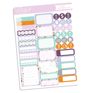 Wildflower Functional Sticker Sheet