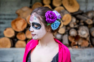 CATRINA COSTUME AND MAKEUP: ORIGINAL COSTUME FOR HALLOWEEN
