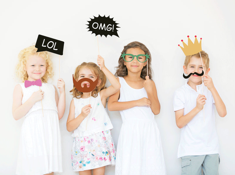 DIY Essentials Party Set - Party Supplies for any celebration: Party Bunting, Invitations, favors, photo booth props and much more