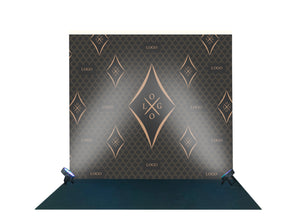 Backdrop Black and Gold - DIGITAL DESIGN - Party Photocall - Custom Photo booth - size 2.2m H x 2.4m W - PSD
