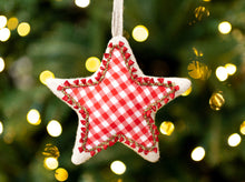 Heart Gingham Christmas Tree Ornament