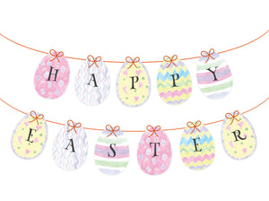 Painted Eggs Bunting - Easter Garland - Party Banner - DXF, EPS, SVG, PDF - Direct Download
