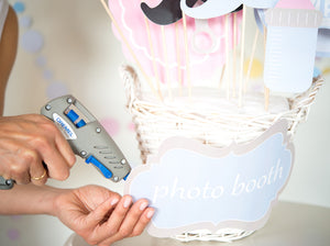 Baby Shower Photo Booth Props and sign - PDF - DIY Templates for Cutting by Hand or with Silhouette Cameo