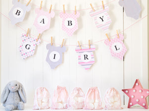 picture about Onesie Printable known as Youngster Shower Bunting Printable - Little one Female - Onesie Bunting - PDF - Lead Obtain - Silhouette Minimize information