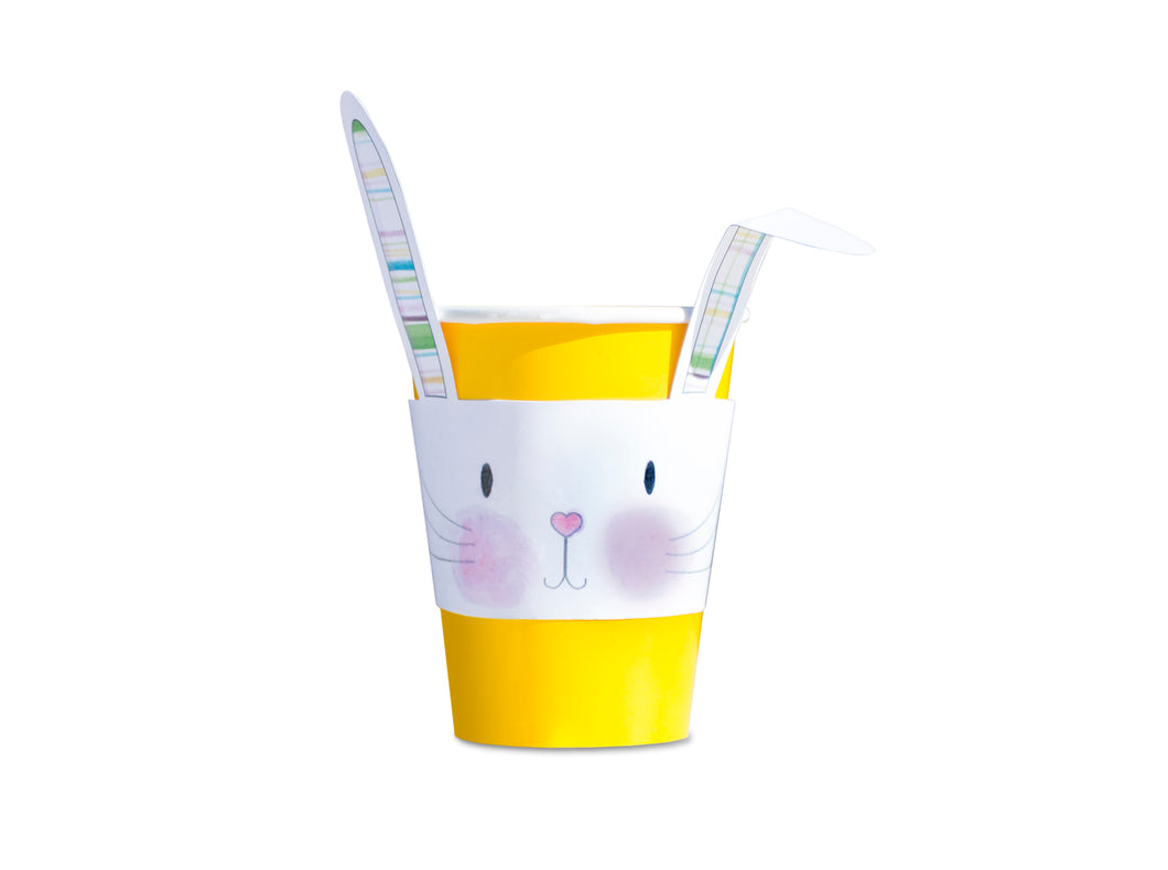 Hand Painted Easter Bunny Cup Sleeves - 3 Designs - Easter decoration - PDF - Direct download