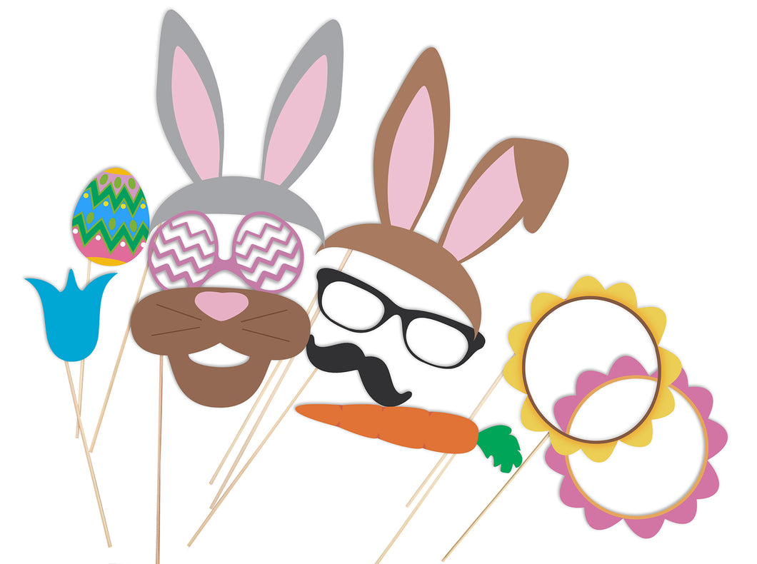 Easter Photo Booth - Disguises and props to download -Cutting files - DXF, EPS, SVG, Pdf