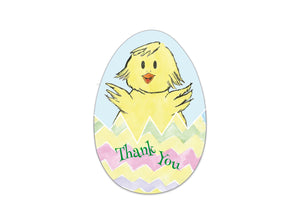 Easter Egg Thank you card - Hand-painted - Cutting files - DXF, EPS, SVG, PDF