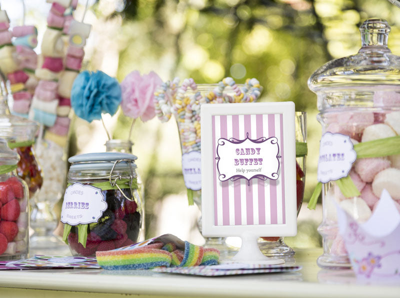 Candy Buffet labels and sign - Party Favor  - Direct download - Cutting files