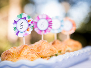 Number Stickers & Party Cupcake Toppers for Birthdays, Anniversaries, Weddings and Celebrations - Instant Download