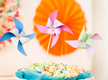 Pinwheel cocktail sticks printables - Origami Party stationary - Party printables - PDF