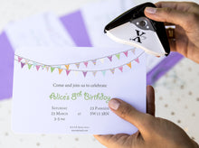 Bunting Invitation - Essential collection from DIY Kids Party Ideas