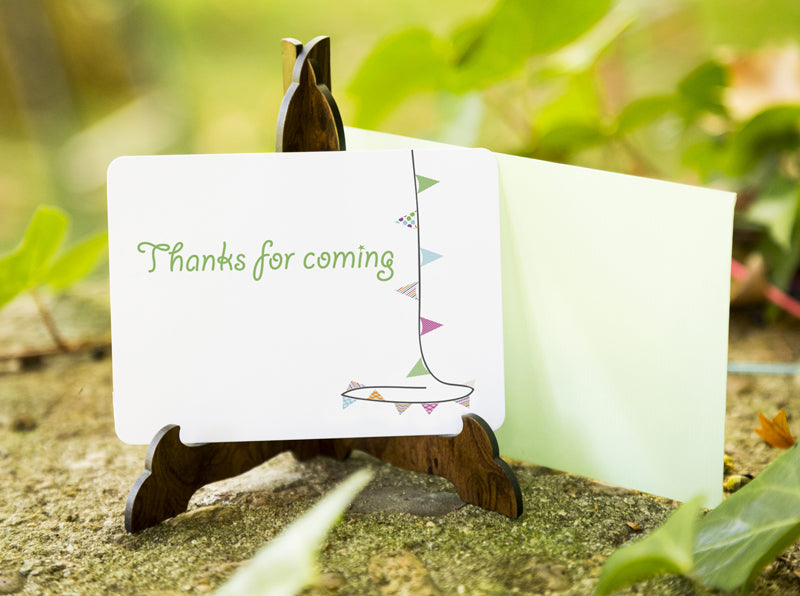 Bunting Thank you Card - Direct download - PDF