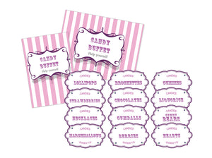 Candy Buffet labels and sign - Essential collection from DIY Kids Party Ideas