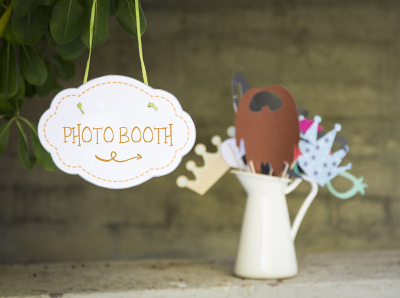 Photo Booth and Sign - Essential collection from DIY Kids Party Ideas