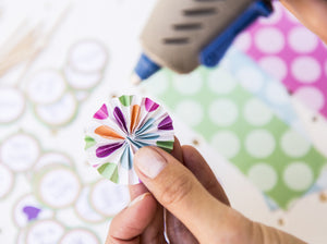 Miniature and Medium DIY Paper Fan Sticks - Instant Download - Party Printable