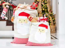 Santa Bags with Santa Felt Applique